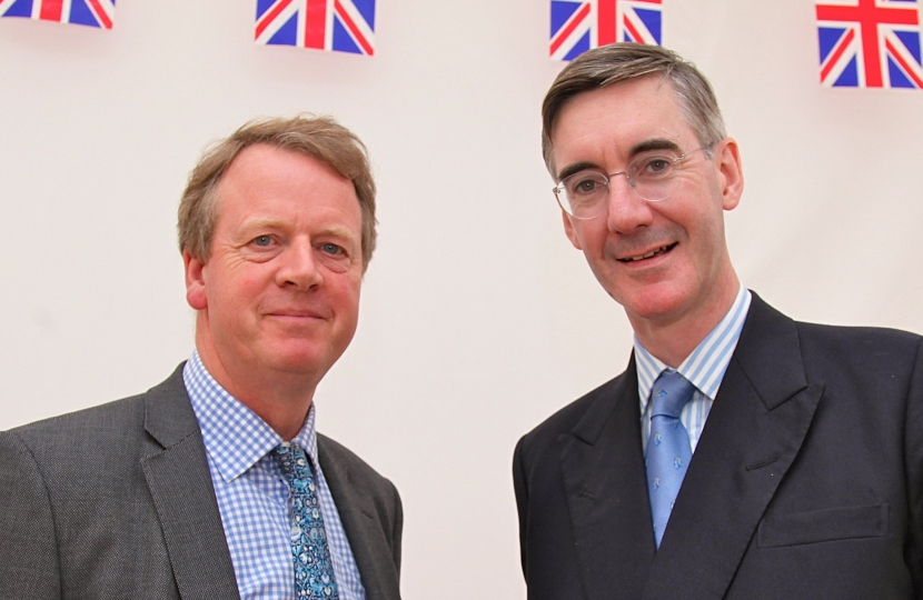 Alister Jack MP with Jacob Rees-Mogg