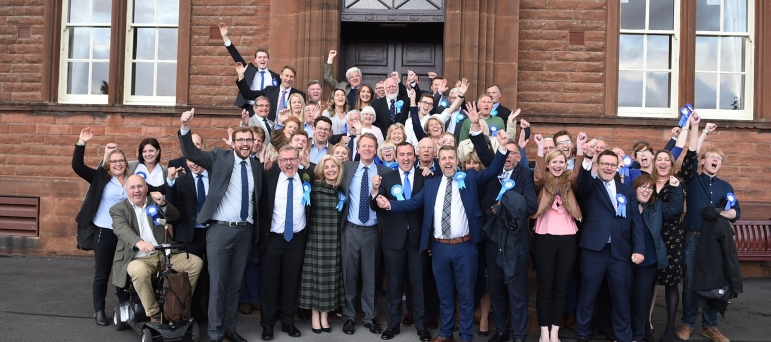 Conservatives celebrate success in Dumfries and Galloway